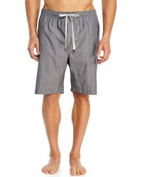 Kenneth Cole - Charcoal & White Stripe Woven Jam Shorts - Lyst