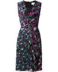 J. Mendel Embellished Fitted Dress - Lyst