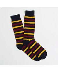 J.Crew Factory Mixed-stripe Socks - Lyst