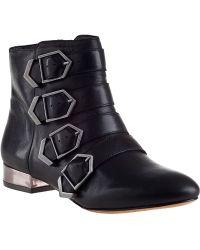 Sam Edelman Nolan Ankle Boot Black Leather - Lyst