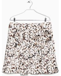 Mango Pleat-detail Printed Skirt - Lyst