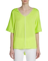 Elie Tahari Charity Stretchsilk Blouse - Lyst