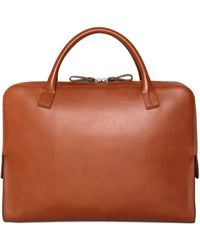Bonastre - Vegetable Tanned Leather Briefcase - Lyst