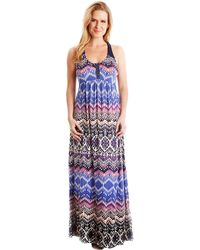 Lucky Brand Tribal Print Maxi Dress - Lyst