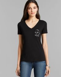 Umano - Tee - The Classico V Neck With The Skull - Lyst