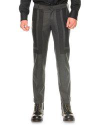 Alexander McQueen Crepe Rectanglepatch Pants - Lyst