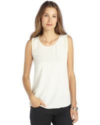 Theyskens' Theory Ivory Silk Blend Sleeveless Blouse - Lyst