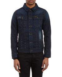 G-star Raw Distressed Slim Tailor Jeans Jacket Blue - Lyst