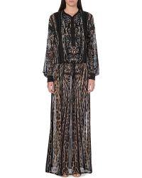 Roberto Cavalli Leopardprint Silk Kaftan Brown - Lyst