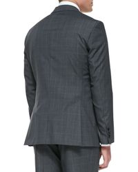 Boss by Hugo Boss Melange Windowpane 2button Suit - Lyst