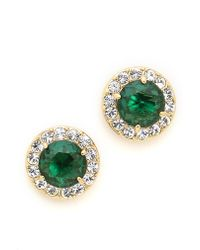 Kate Spade Basket Pave Stud Earrings Emerald - Lyst