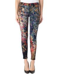 Hudson Barbara High-Waist Skinny Jeans - Lyst