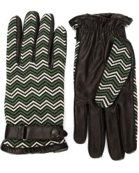 Orley - Chevron Pattern Gloves - Lyst