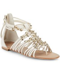 Ash Medusa Studded Leather Sandals - Lyst