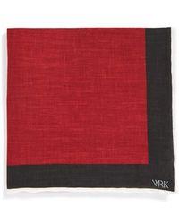W.r.k. Solid Linen Pocket Square - Lyst