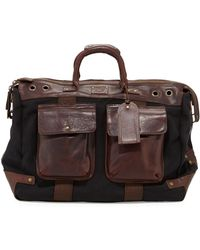 Will Leather Goods Traveler Canvasleather Duffel Bag - Lyst