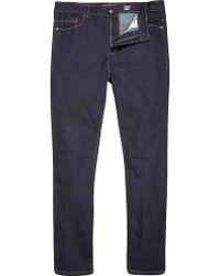 River Island Dark Blue Wash Sid Skinny Stretch Jeans - Lyst