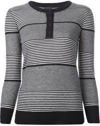 Joseph Striped Sweater - Lyst