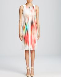 Elie Tahari Davis Watercolor Dress - Lyst