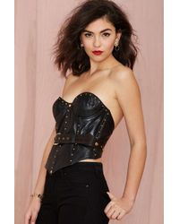 Nasty Gal Vintage Isaac Mizrahi Hold It Down Leather Bustier - Lyst