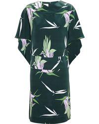 Marni Silk Cape Dress - Lyst