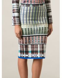 Clover Canyon All Over Woven Pattern Stretch Skirt - Lyst
