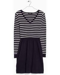Mango Cotton-Blend Knit Dress - Lyst