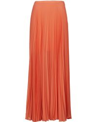 Topshop Full Pleat Maxi Skirt - Lyst