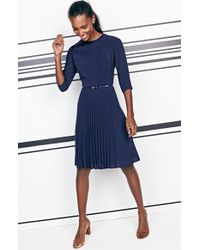Adrianna Papell | Pleated A-line Dress | Lyst