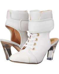 Viktor & Rolf Lace Front Bootie white - Lyst