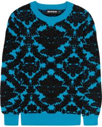 House Of Holland Flocked Stretchknit Sweater - Lyst