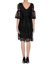 Pf Paola Frani 3/4 Length Sleeve Lace Knee Length Dress - Lyst