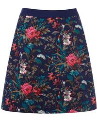 Oasis Tropical Forest Patched Skirt - Lyst