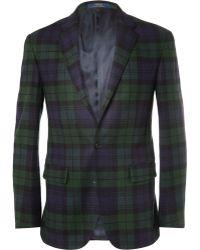 Polo Ralph Lauren Tartan Wool and Cashmere Blend Blazer - Lyst