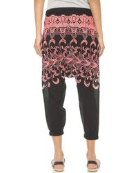 Surf Bazaar - Embroidered Harem Trousers - White - Lyst