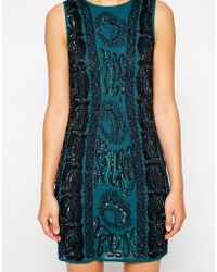 Asos Embellished Cable Body-Conscious Dress - Lyst