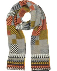 Missoni Multicolor Geometric Wool Woven Scarf - Lyst