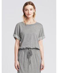 Banana Republic Gray Sweatshirt Dress - Lyst