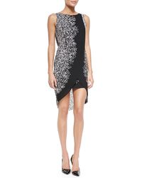 BCBGMAXAZRIA Audra Sleeveless Dress W Highlow Scissor Hem - Lyst