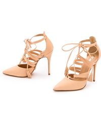 Schutz Zora Lace Up Pumps - Sand - Lyst