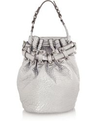Alexander Wang Diego Metallic Textured-leather Shoulder Bag - Lyst