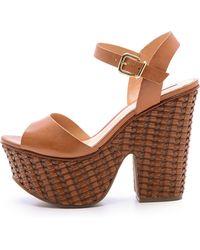 Schutz Tauba Platform Sandals - Brownie - Lyst