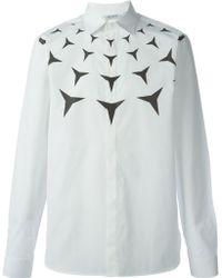 Neil Barrett Geometric Print Shirt - Lyst