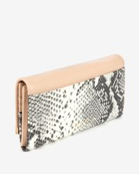 Ted Baker Large Exotic Leather Wallet - Lyst
