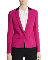 Costume National Wool Single-Button Skinny Blazer - Lyst