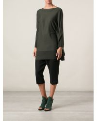 Mm6 By Maison Martin Margiela Asymmetric Knitted Dress - Lyst