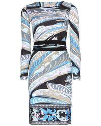 Emilio Pucci Printed Jersey Dress - Lyst