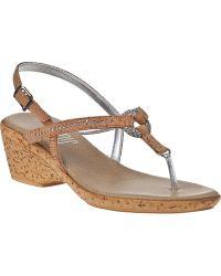 Onex For Jildor Marlee Wedge Sandal Natural Cork - Lyst