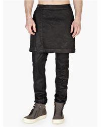 DRKSHDW by Rick Owens Men'S Black Kilted Detroit Jeans black - Lyst