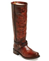 Freebird by Steven 'Shadow' Distressed Leather Tall Boot - Lyst